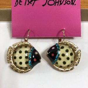 Betsey Johnson Fish Earrings